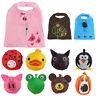 Cute Animal Grocery Folding Waterproof Pouch Reusable Shopping Bags Handbag Tote