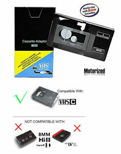 NEW sealed VHS-C to VHS Player Motorized Cassette Adapter for JVC,RCA,Panasonic