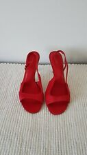 BNWT Ladies M&S Red Strappy Evening Shoes Sandals Size 5.5