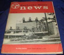 BH840 Vtg Fairbanks Morse News April - May 1958 Sales Brochure Railroad Diesel