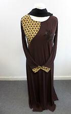 Womens Abaya Brown Jilbab Islamic/Arabic Long Dress Size Small Box24 05 E