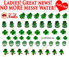 St. Patricks Day Clear Vinyl PEEL and STICK Nail Decals CV-SPD005-50