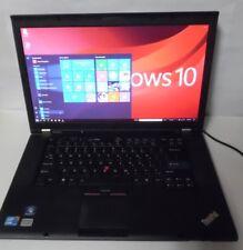 "Lenovo ThinkPad T520 15.6"" Core i5-2520M 2.5GHZ 4GB 320GB WINDOWS 10 PRO 32 BIT"