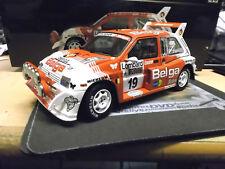 AUSTIN MG Metro 6R4 Rallye Gr.B RAC 1986 #19 Duez Belga SMS RAR Sunstar 1:18