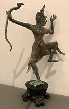 Bronce Lord Rama con arco de ramanaya en pedestal algunos Dorado 28 Cm Alta