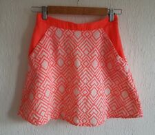 KOOKAI Size 8 Skirt Size 36 A line Mini Short Bright Geo