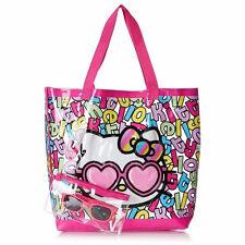 6in1 Hello Kitty Travel Beach Tote Bag + Sunglasses Pouch +Swim Ring Tube +BONUS