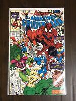 The Amazing Spider-Man #348 Feat. Avengers & Sandman Marvel Comics 1991 VF/NM