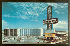 Early 60's Frontier Casino Las Vegas Full View Unused Postcard Friendly Hotel