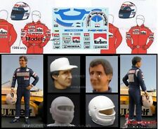 1/20th Alain Prost at McLaren figure kit with decal set by GF Models