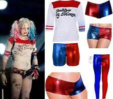 Women Ladies Adult Harley Quinn Fancy Costume T-Shirt Halloween Plus Size Dress