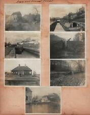 LOST STATION KENNET & AVON CANAL Orig Photos c1905 & USA CABIN PHOTOS