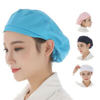 KQ_ Women Elastic Breathable Dust-proof Cap Kitchen Restaurant Bakery Chef Hat N