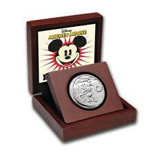 2014 Disney Steamboat Willie 1 oz Silver Proof Coin with Box & COA