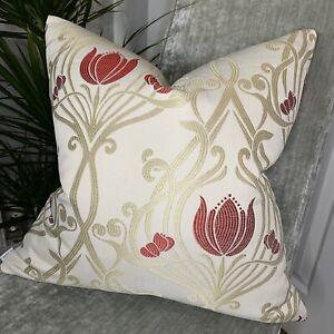 "Cushion Cover 20"" Designer iLiv Fabric, Lalique & Ruby Contemporary Style"