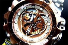 Invicta Reserve Venom Hybrid Master Calendar Rose Gold 2 Tone Steel Watch New