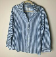 Foxcroft Women's Shirt Size XL Top Blouse Wrinkle Free Long Sleeves Casual Work
