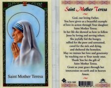 Laminated Prayer Cards eBay - Saint Mother Teresa Cared For Sick Poor Hungry
