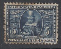 USA Scott #330  5 cent  Jamestown Expo     F