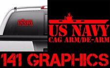 US Navy CAG ARM DEARM AO ORDNANCE Aircraft Carrier Flight Deck Veteran Car Decal