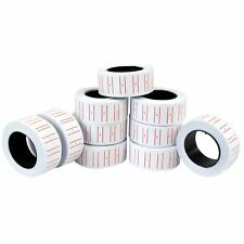 Label Price Tag Rolls for Pricing Gun MX5500 Red & White Lined Pricing Tags