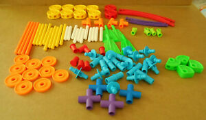 Tinker Toy Construction Plastic Hasbro 2013  Replacement 97 Pieces Lot