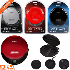 Portable Compact Cd Player 3.5mm Headphone Jack Music Bass Boost Or/& Hard Case