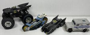 Batman Hot Wheels Toy Car Diecast Bundle Batmobile Gotham City Van Monster Truck