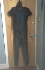 Amazing teal and black trousers and top by Next size 6