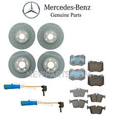 For MB W205 C300 Front & Rear Brake Pad Sets & Brake Discs Rotors Sensors Kit