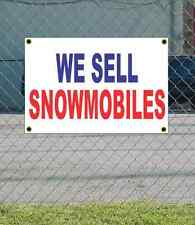 2x3 WE SELL SNOWMOBILES Red White & Blue Banner Sign NEW Discount Size & Price
