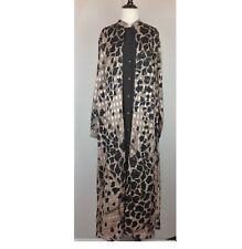 c2064f37fe3d New Mlle Gabrielle Maxi Dress Women 14 Animal Print Black Beige
