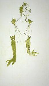 TOULOUSE LAUTREC :  Chanteuse charmante - LITHOGRAPHIE signée, 1950