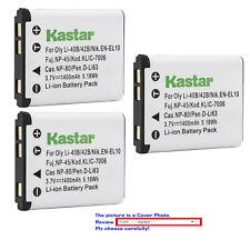 Kastar Battery Replace for NP-45 45A 45B 45S Li-40B 42B LB-012 GB-10 EL10 K7006