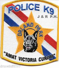 "Orland Park  K-9, IL  (4"" x 4.5"" size)  shoulder police patch (fire)"