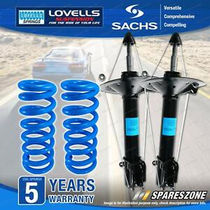 Rear Sachs Shock Absorbers Lovells Raised Springs for Nissan X-Trail T30 Wagon