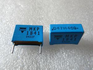 2 condensateurs 0,047uF 47nF 400V 2,5% Vishay MKP1841