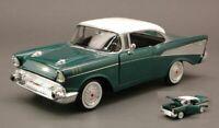 Chevrolet Bel Air 1957 - Green Metallic , Classic Metal Model Car, Motormax 1/24