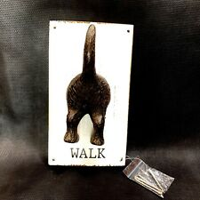 Dog Tail Cast Iron Wall Hook Mounted on