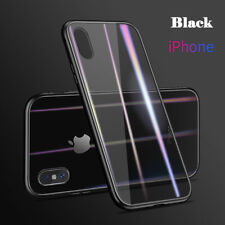 For iPhone X Xr Xs Max Magnet Adsorption Frame Tempered Glass Back Case Cover