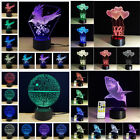 NEW Colorful 3D Led Table Lamp Blubs Touch Holiday Festival Bedroom Night Light
