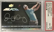 Rory McIlroy 2013-14 UD Black Rookie Autograph SSP #d /25 Very Rare