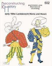 Schnittmuster RH 502: Landsknecht Wams und Hosen