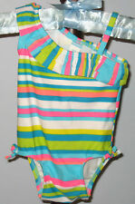 New OLD NAVY Size 0-3 Months Multi-Color Striped One-Piece UPF 50 Swimsuit