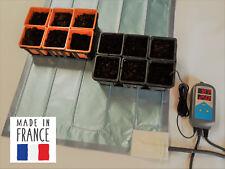 Nappe chauffante avec thermostat numérique pour semis, plants