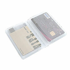 10Page 20Card Plastic Wallet Insert Replacement for Business Credit Card Holder