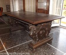 Tavolo rettangolare in noce, lavorato, epoca Umbertina cm 200 x 100