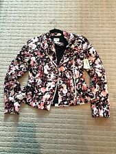NEW $235 Aritzia Wilfred Spring Floral Dieppe Moto Biker Jacket 0 XS Multi-color