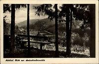 Mühltal Thüringen DDR s/w Postkarte 1954 Blick zur Amtsschreiber Mühle Talblick