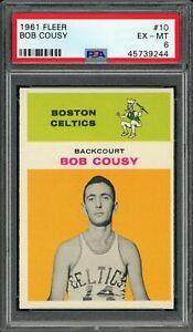 1961 Fleer #10 Bob Cousy PSA 6